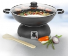 eletrický kovový wok TRISTAR 31 cm + příslušenství