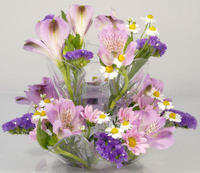 váza luční květy